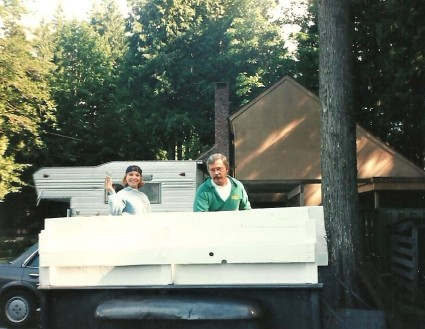 Dad and I painting trailer