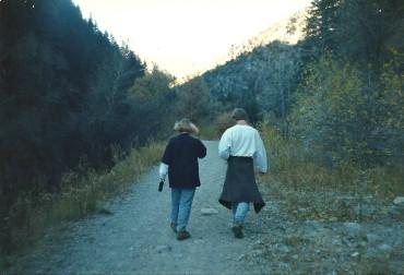 Matt and Brandy hiking