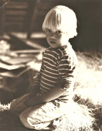 little Matt in barn
